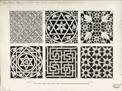 Ahmadabad: Patterns from the windows of the colonade around the tombs of the Queens of Ahmad Shah f.41